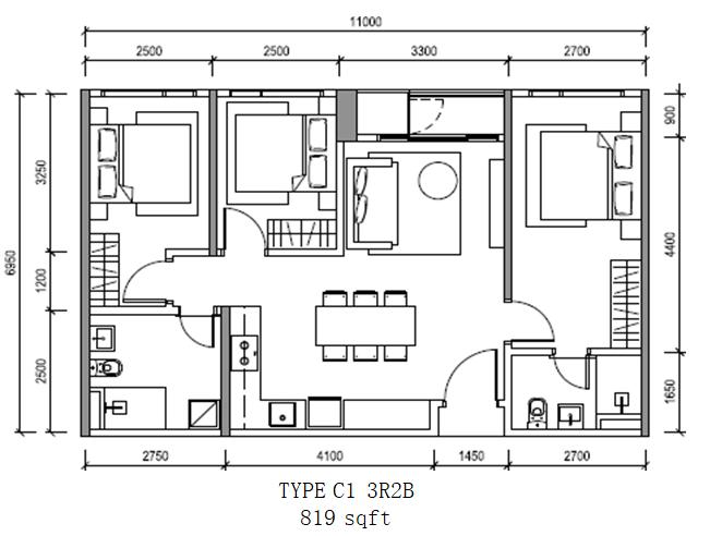 Altris_Residence_TypeC1-3R2B
