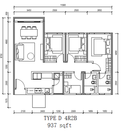 Altris_Residence_TypeD-4R2B