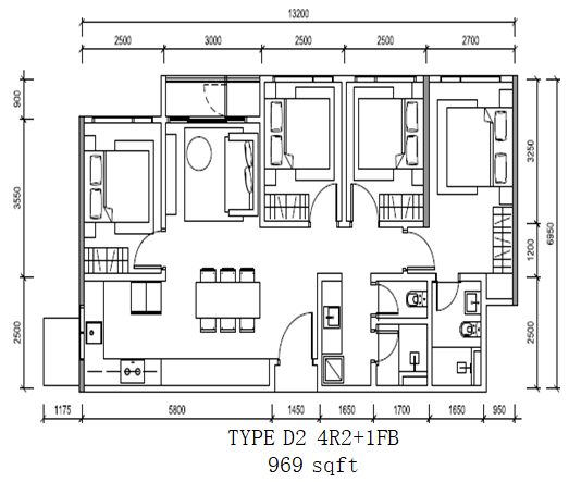 Altris_Residence_TypeD2-4R2+1FB